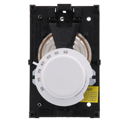 T498 Beige Electric Heat Thermostat, w/ Range Stops