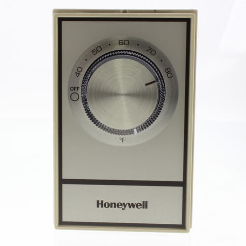 T498 Gold Electric Heat Thermostat, w/ Pos Off Product Image