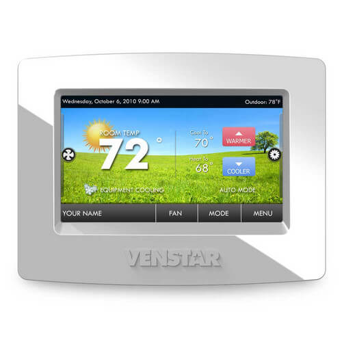 Silver Face Plate for ColorTouch Thermostats