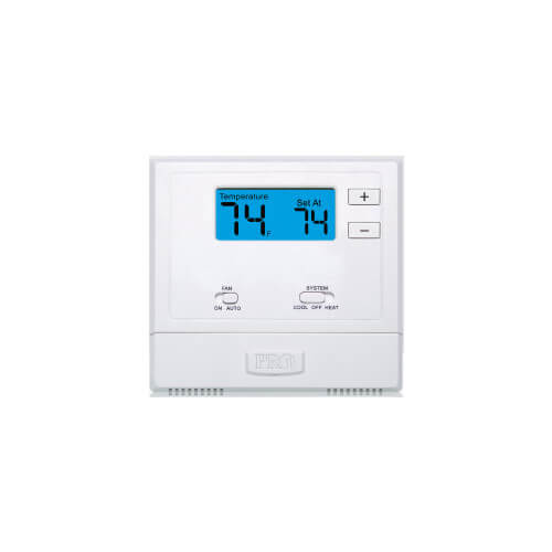 T601-2 Non-Programmable Thermostat w/ 2 sq. in Display (1H/1C)