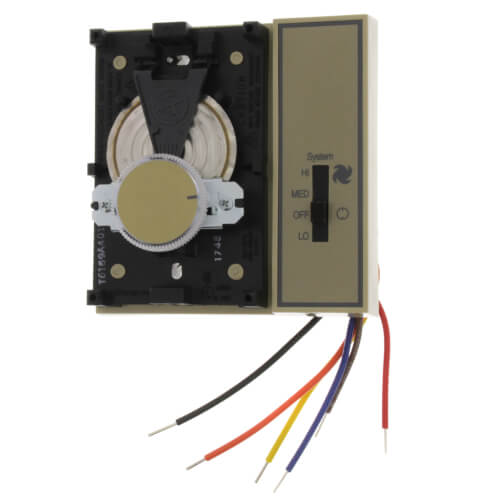 Fan Coil Thermostat, 2 pipe Remote Heat/Cool changeover (Tan)