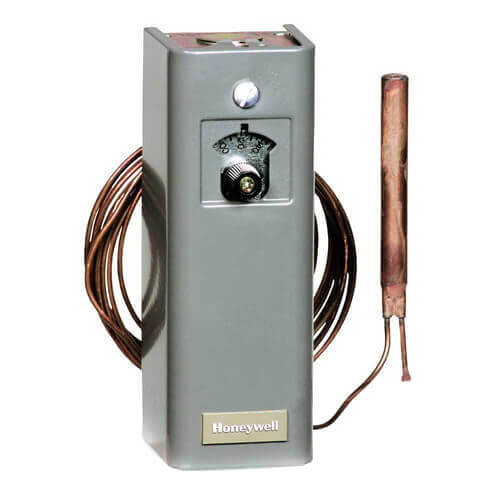 Remote bulb Commercial Temperature Controller, 167 F to 257 F, 5 ft. capillary, Copper bulb sensing element