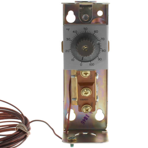 Remote bulb Commercial Temperature Controller, 0 F to 100 F, 20 ft. capillary, Copper bulb sensing element Product Image