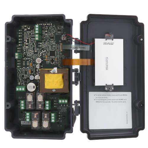 Electronic Temp Controller w/ 2 Temp Inputs, 4 SPDT Relays, 1 Sensor, NEMA 4X Enclosure Product Image