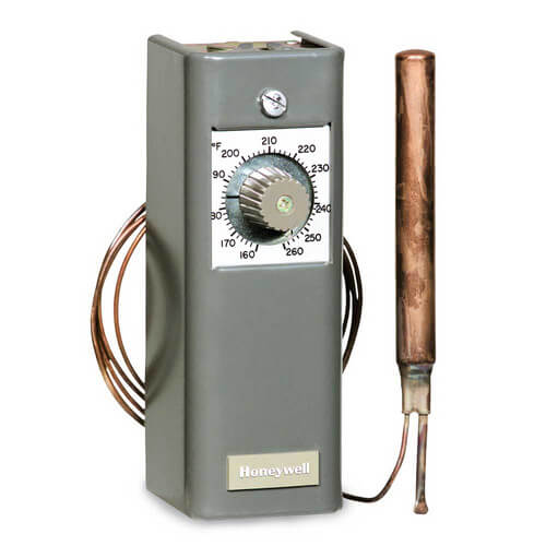 Modulating Temperature Controller, 55 F to 175 F, 20 Ft Capillary (280 Ohm Potentiometer)