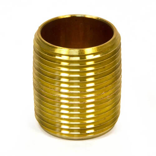 "1/2""x Close Brass Nipple"