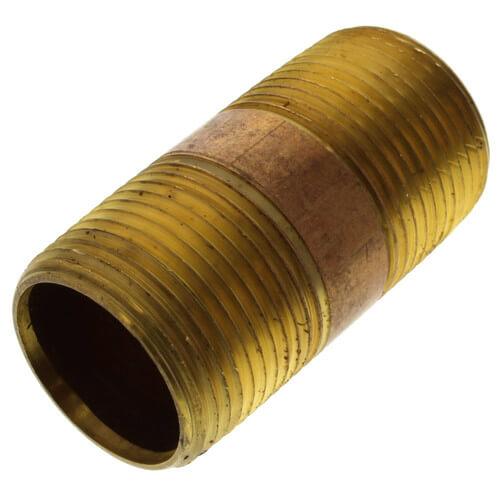 """1""""x 3"""" Brass Nipple"""
