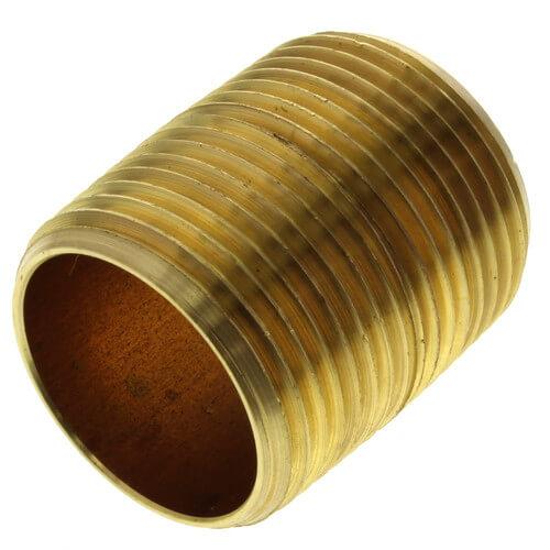 "1""x Close Brass Nipple Product Image"