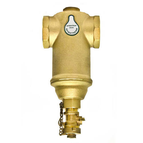 "1-1/4"" Spirotrap Drain Brass Dirt Separator with removable head (Female Thread)"