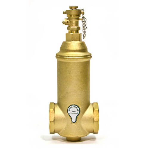 "1-1/2"" Spirotrap Drain Brass Dirt Separators with removable head (Female Thread)"
