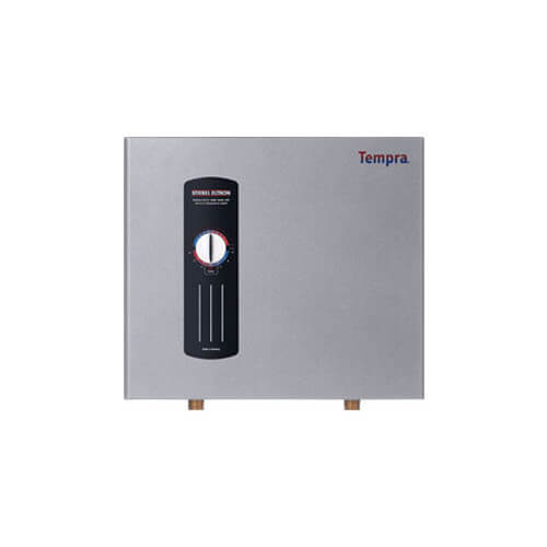 The Model RA-14 two chamber tankless electric water heater is designed for use as a supplement to an existing potable water heater that is unable to satisfy user
