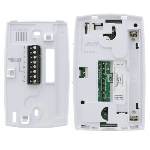 T410 White, Electric Heat Thermostat