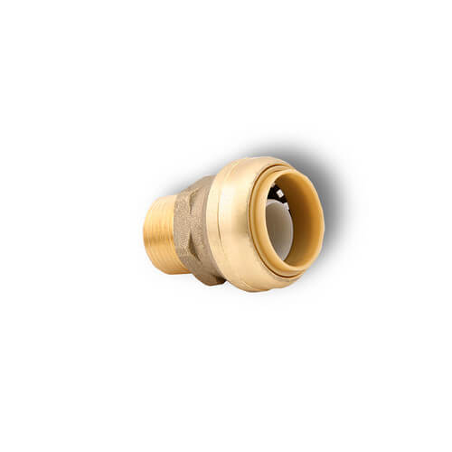 "1"" x 3/4"" Sharkbite Pipe to Male Pipe Thread Reducing Connector"