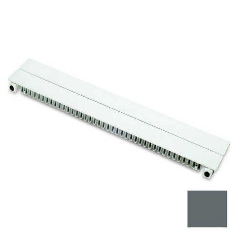 8 ft UF-2 Baseboard Radiator (Runtal Steel - Dark Grey) Product Image