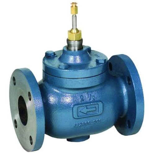 "4"" Two-way Flanged Globe Valve, Water or Glycol (160 Cv)"