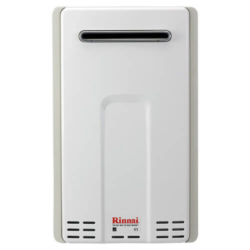 V75en Rinnai V75en V75en 180 000 Btu Non Condensing Outdoor Tankless Water Heater Natural Gas