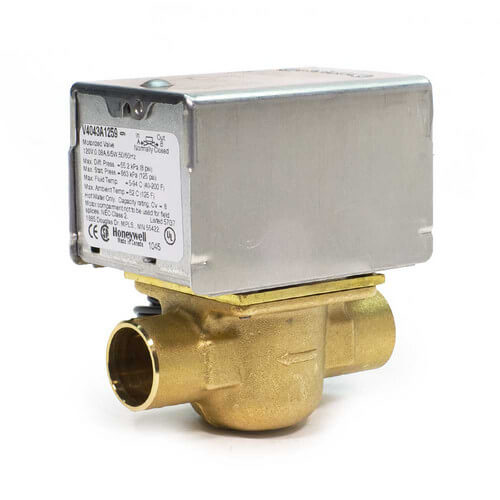 "3/4"" Sweat Connection Zone Valve, normally closed (24v)"