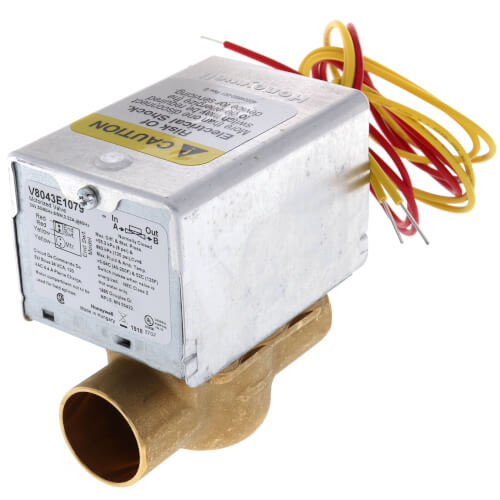 "1"" Sweat Connection Zone Valve, normally closed, 8 Cv (24v)"