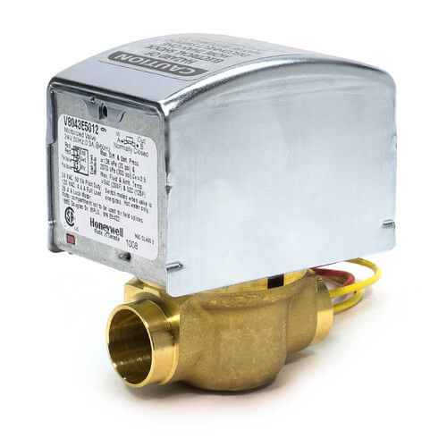 "1"" Sweat Connection Zone Valve, normally closed, w/ manual opener, 8 Cv (24v) Product Image"