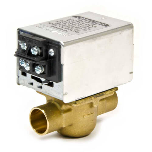 "3/4"" Sweat Connection Zone Valve, normally closed, w/ screw terminal block connection, 8 Cv (24v)"