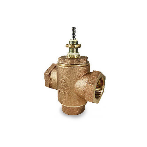 "2-1/2"" NPT Bronze 3-Way Mixing Valve (67 cv)"