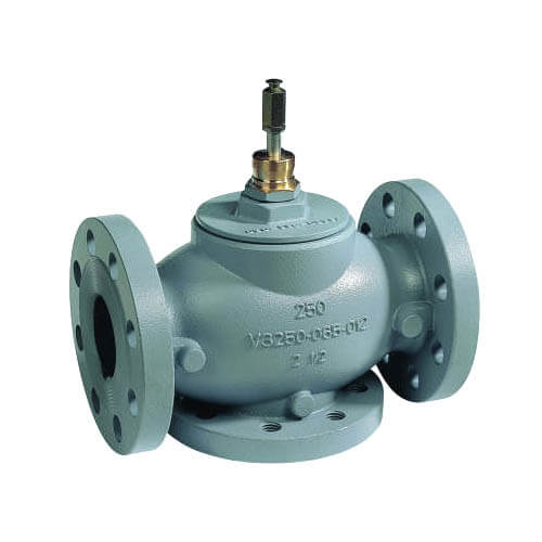 "6"" Three Way Flanged Mixing Valve w/ Equal Percentage Flow"