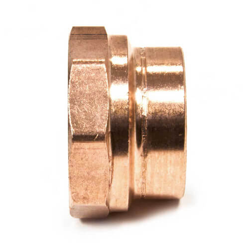 "1-1/2"" Copper DWV Coupling Less Stop"