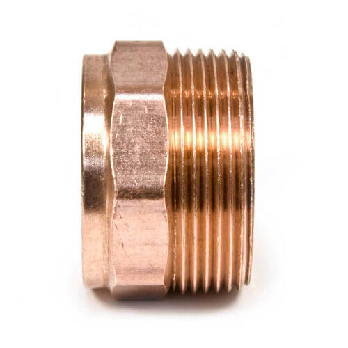 "1-1/4"" x 1-1/2"" Copper DWV Male Adapter Product Image"
