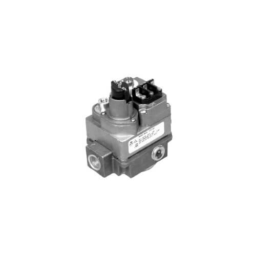 "1/2"" X 3/8"" Gas Valve, Right Angle Right Flow Direction, 24 VAC"