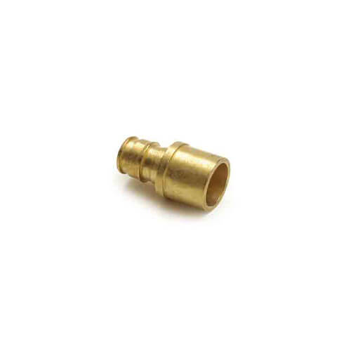 V4511515 uponor wirsbo v4511515 propex red brass for Pex pipe vs copper