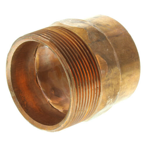 """2"""" Copper x Male Adapter Product Image"""