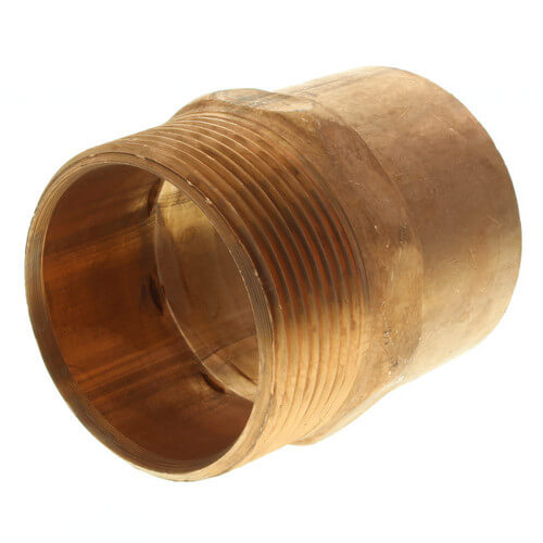 "1/2"" ProPEX Brass x 1/2"" Copper Stub Elbow (3-1/2"" x 8"")"