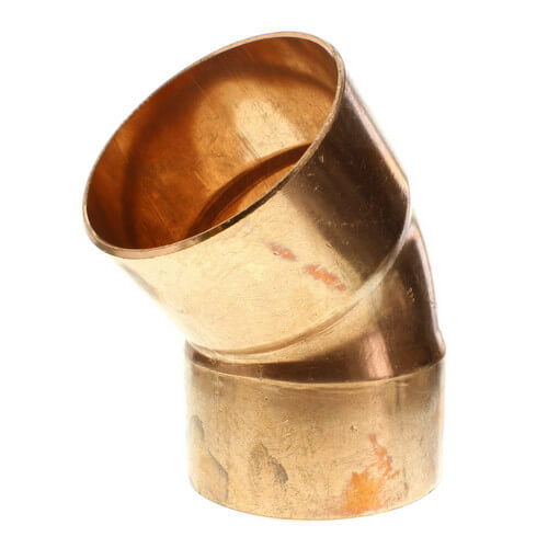 "3-1/2"" Copper 45° Elbow"