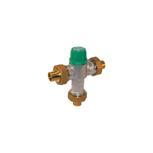 Lead Free Thermostatic Mixing Valve, 95 to 115°F (Less Unions)